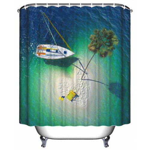 Love Island Bathroom Waterproof Polyester Shower Curtain