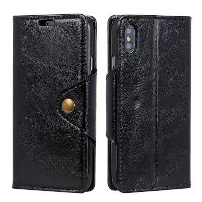 For iPhone X Leather Case Revit Flap Wallet Stand Case with 3 Card Slots