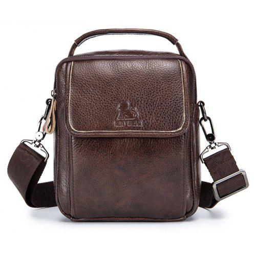 086bc00bbc3b LAOSHIZI LUOSEN Vintage Leather Genuine Leather Shoulder Bag men crossbody  bag sling Leisure Bag -  33.85 Free Shipping