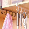 Cupboard Wardrobe Holder Kitchen Storage Rack - WHITE