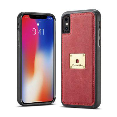 CaseMe H3 for iPhone X TPU PC Leather Back Cover with Ring Bracket
