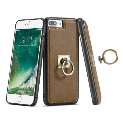 Фото CaseMe H3 for iPhone 7 Plus / 8 Plus Metal Ring Kickstand Leather Case in TPU PC Material Back Cover kazine azine embossment tpu pc finger ring kickstand cell phone case girls and puppies for iphone 7 8