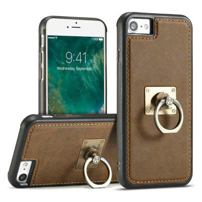 Фото CaseMe for iPhone 7/ 8 Slim Leather Back Case TPU PC Cover with Finger Ring Bracket kazine azine embossment tpu pc finger ring kickstand cell phone case girls and puppies for iphone 7 8