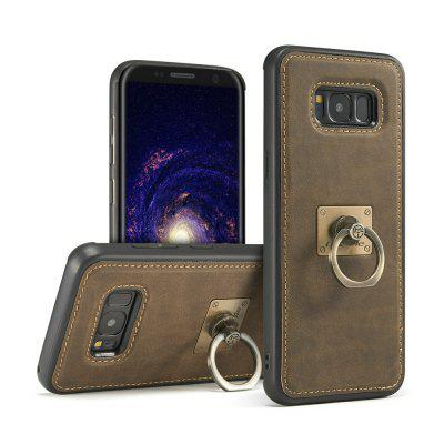 CaseMe H3 for Samsung Galaxy S8 Plus TPU PC Leather Slim Back Case with Detachable Finger Ring Bracket