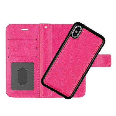 Cover Case For IPhoneX Two-In-One Wallet Pu Multi-Function Flip Card