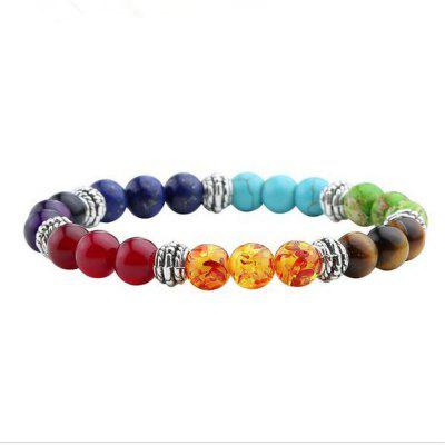 2018 New Bracelet for Women Colorful Beaded Reiki Healing Natural Stone Energy Yogo