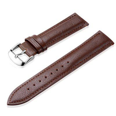 Stylish Leather Watch Band 20MM Brown Black