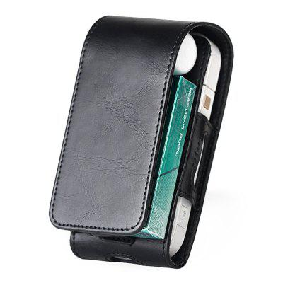iQOS 2 Electronic Smoke Protective Holder Cover Wallet Case PU Leather Carrying Case Box with Card Holder