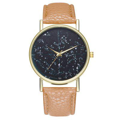 Zhou Lianfa New Fashion Golden Dial Lyset Pattern Black Star Chart