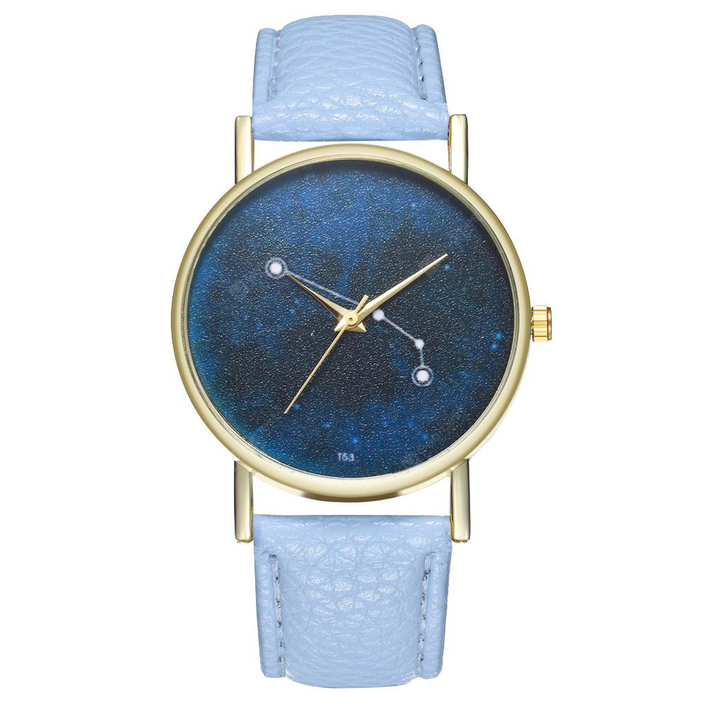 Zhou Lianfa The New Fashion Trend of The Golden Dial Litchi Blue Line Connection Diagram Watch