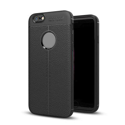 Case for iPhone 6 / 6S Litchi Grain Anti Drop TPU Soft Cover drop proof rugged pc tpu hybrid phone cover with kickstand for iphone 6s 6 red