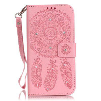Campanula Flower Phone Case for Iphone 6 6S 4.7 Inch 3D Diamond Design Wallet Cover flower butterfly diamond leather stand wallet case for iphone 6s 6 4 7 light purple