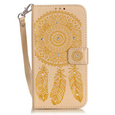 Campanula Flower Phone Case for Iphone 6 6S 4.7 Inch 3D Diamond Design Wallet Cover