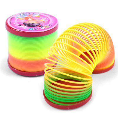 Big Creative Plastic Rainbow Spring Magic Tricks Toy for Kids
