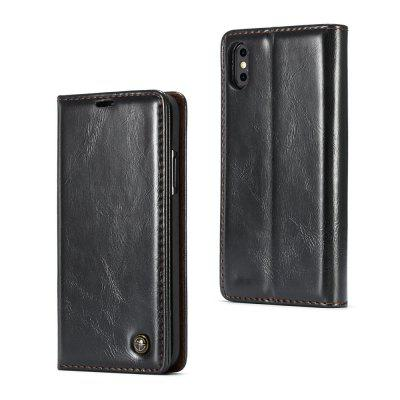 CaseMe 003 for iPhone X Magnetic Closure Flip Leather Wallet Case Slim PC Protect Cover with Cash and Card Slot