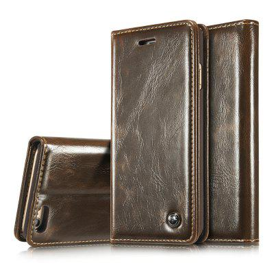 CaseMe 003 for iPhone 6/ 6s Plus Magnetic Premium Flip PU Case Wallet Stand Cover with Cash and Card Slots icarer wallet genuine leather phone stand cover for iphone 6s plus 6 plus marsh camouflage