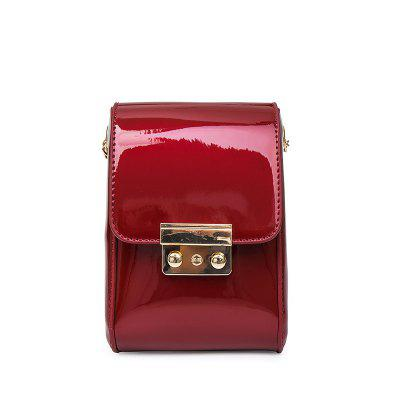 Patent Leather Light Purse Small Mini Lock  Satchel Portable Small Wrapping Bag