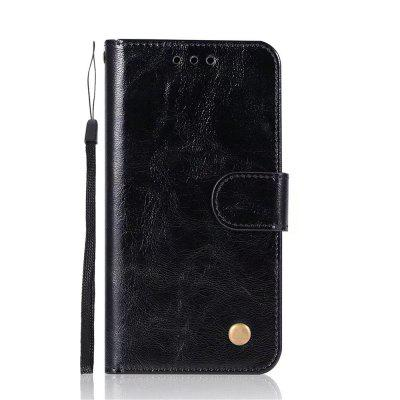 Case For Apple iPhone X Card Holder Wallet with Stand Flip Full Body Solid Color Hard PU Leather