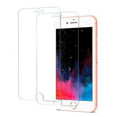 Pellicola salvaschermo 2PCS per Iphone 8 Plus / 7Plus HD Full Coverage Vetro temperato trasparente di alta qualità