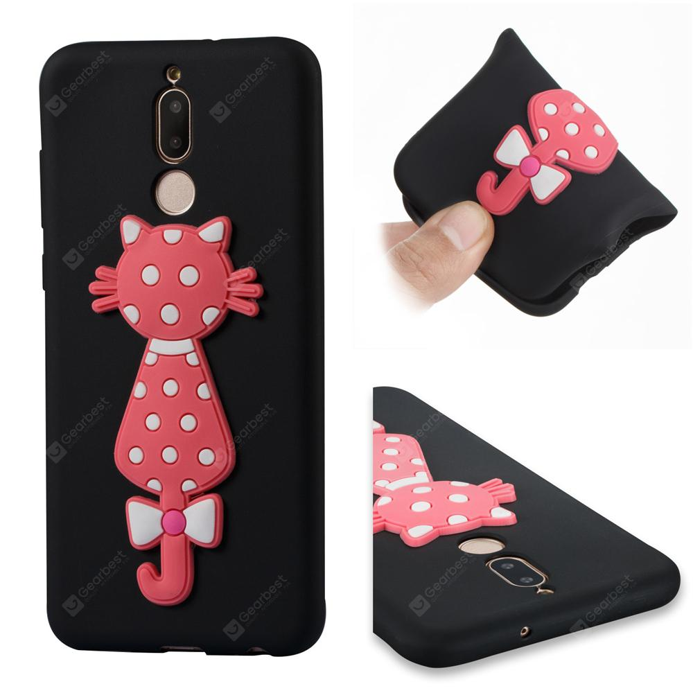 Case For Huawei Mate10Lite Soft 3D Flower Cat Phone Case