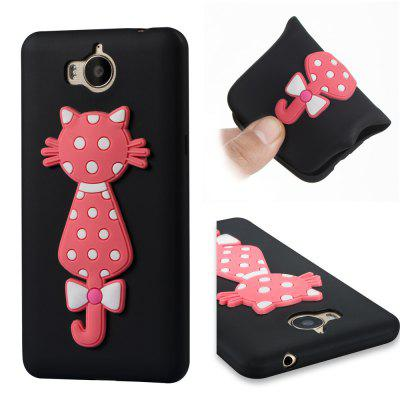 Case For Huawei Y5 2017 Soft 3D Flower Cat Phone Case