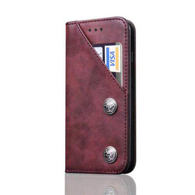 For iPhone 6 Plus / 6s Plus Leather Case Magnetic Closure Antique Copper Grain Wallet Pouch Cover icarer wallet genuine leather phone stand cover for iphone 6s plus 6 plus marsh camouflage