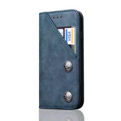 For iPhone 6 / 6s Leather Case Magnetic Closure Antique Copper Grain Wallet Pouch Cover