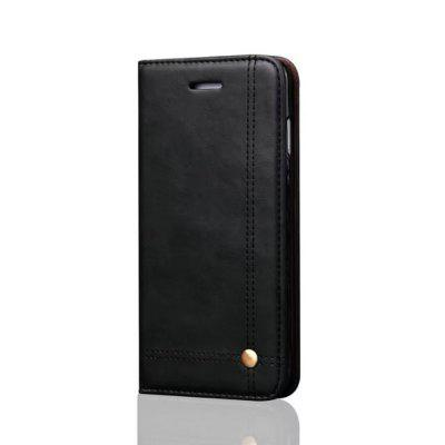 Фото For iPhone 6 Plus / 6s Plus Folio Antique Leather Case Magnetic Closure Leisure Stand Cover gumai silky case for iphone 6 6s black