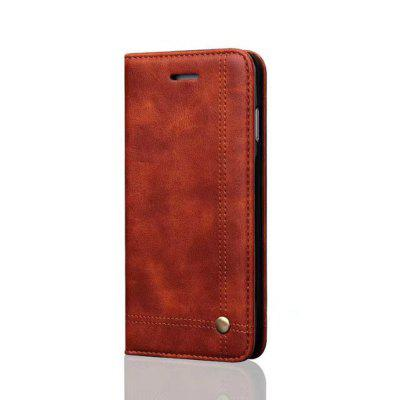 For iPhone 6 / 6s Folio Antique Leather Case Magnetic Closure Leisure Stand Cover