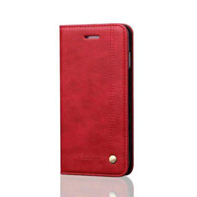 For iPhone 7 / 8  Folio Antique Leather Case ...