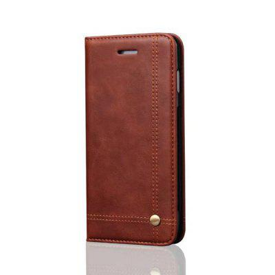 For iPhone 7 Plus / 8 Folio Antique Leather Case Magnetic Closure Leisure Stand Cover