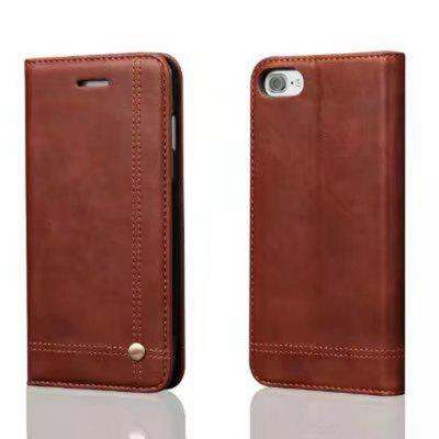 For iPhone X  Folio Antique Leather Case Magnetic Closure Leisure Stand Cover