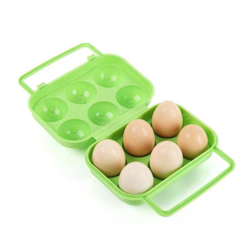 Outdoor Picnic Portable Plastic 6 Case Egg Box