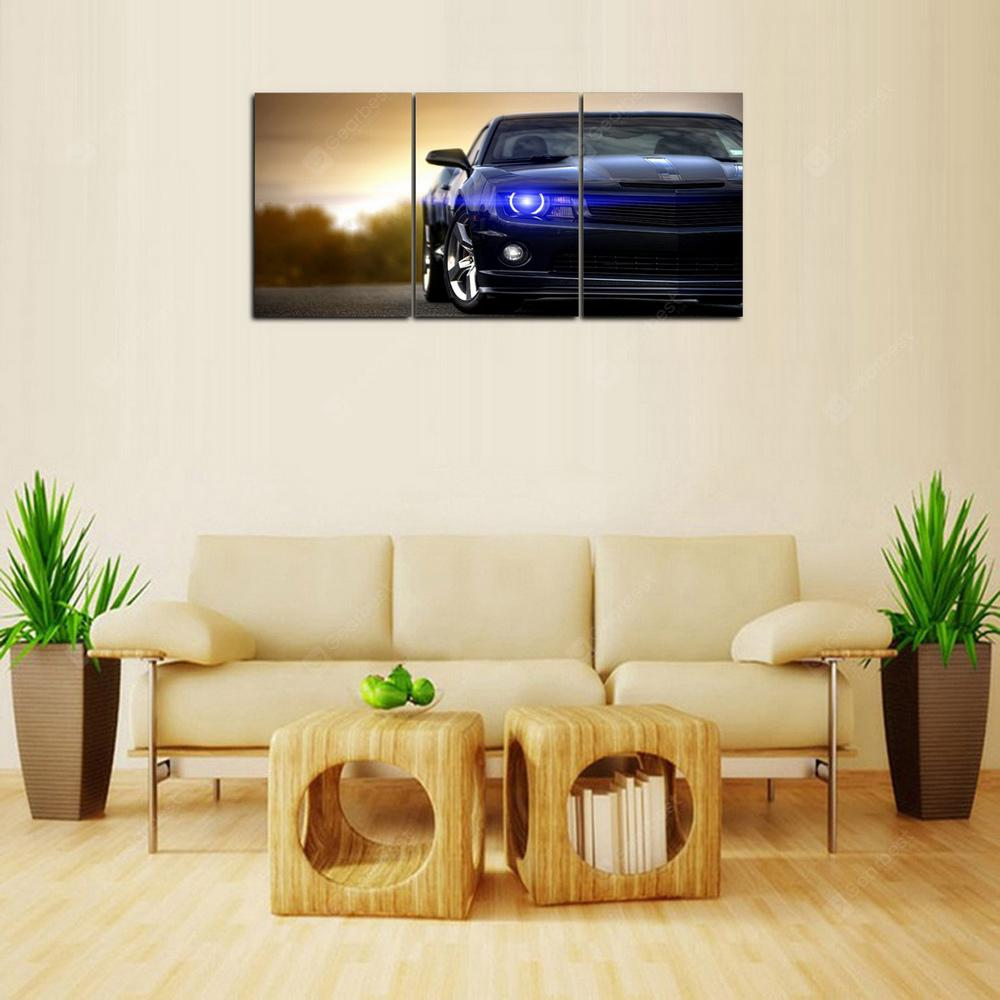 MailingArt FIV502  3 Panels Car Picture Wall Art Painting Home Decor Canvas Print