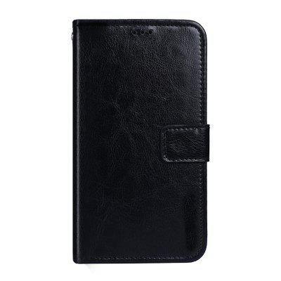 Crazy Horse Stripes PU Leather Wallet Case for Vernee M5