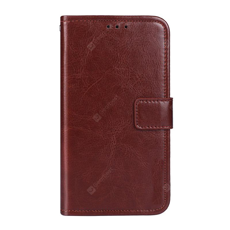 Crazy Horse Stripes PU Leather Wallet Case for Oukitel C8