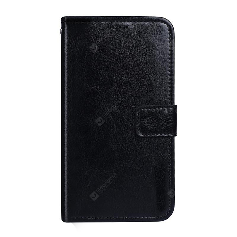 Crazy Horse Stripes PU Leather Wallet Case for Elephone S8