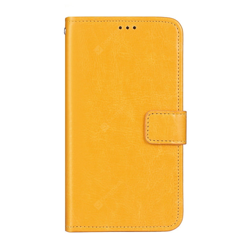 Crazy Horse Stripes PU Leather Wallet Case for Doogee Y6 Max