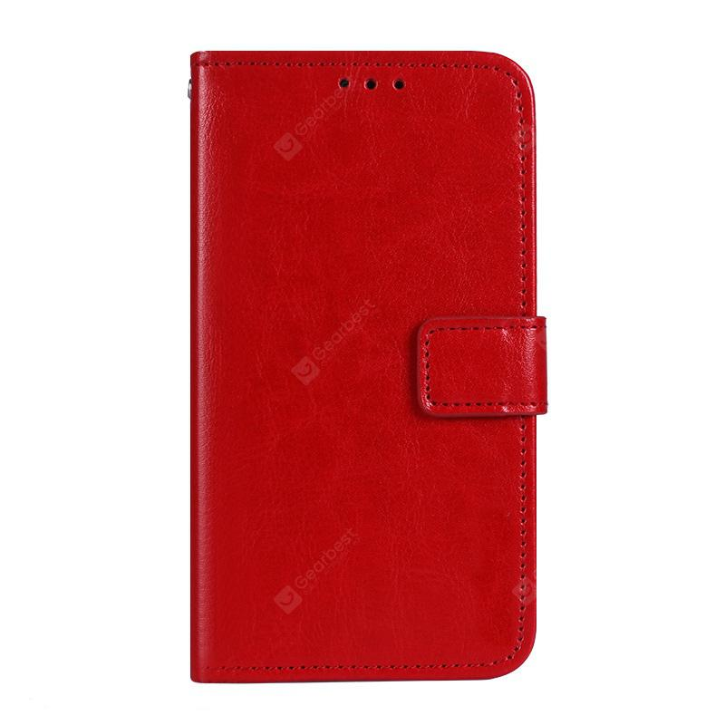Crazy Horse Stripes PU Leather Wallet Case for Bluboo S1
