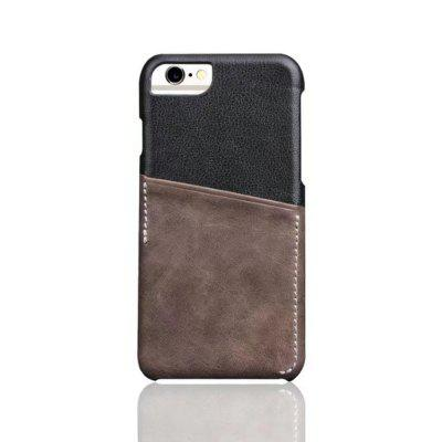 For iPhone 6 / 6s Back Cover Mixed Colors Geuine Leather Case