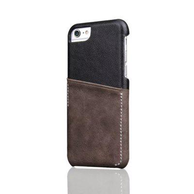 For iPhone 6 Plus / 6s Plus Back Cover Mixed Colors Geuine Leather Case
