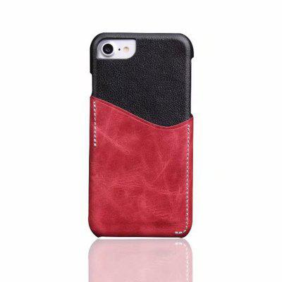 For iPhone 7 / 8 Back Cover Mixed Colors Geuine Leather Case