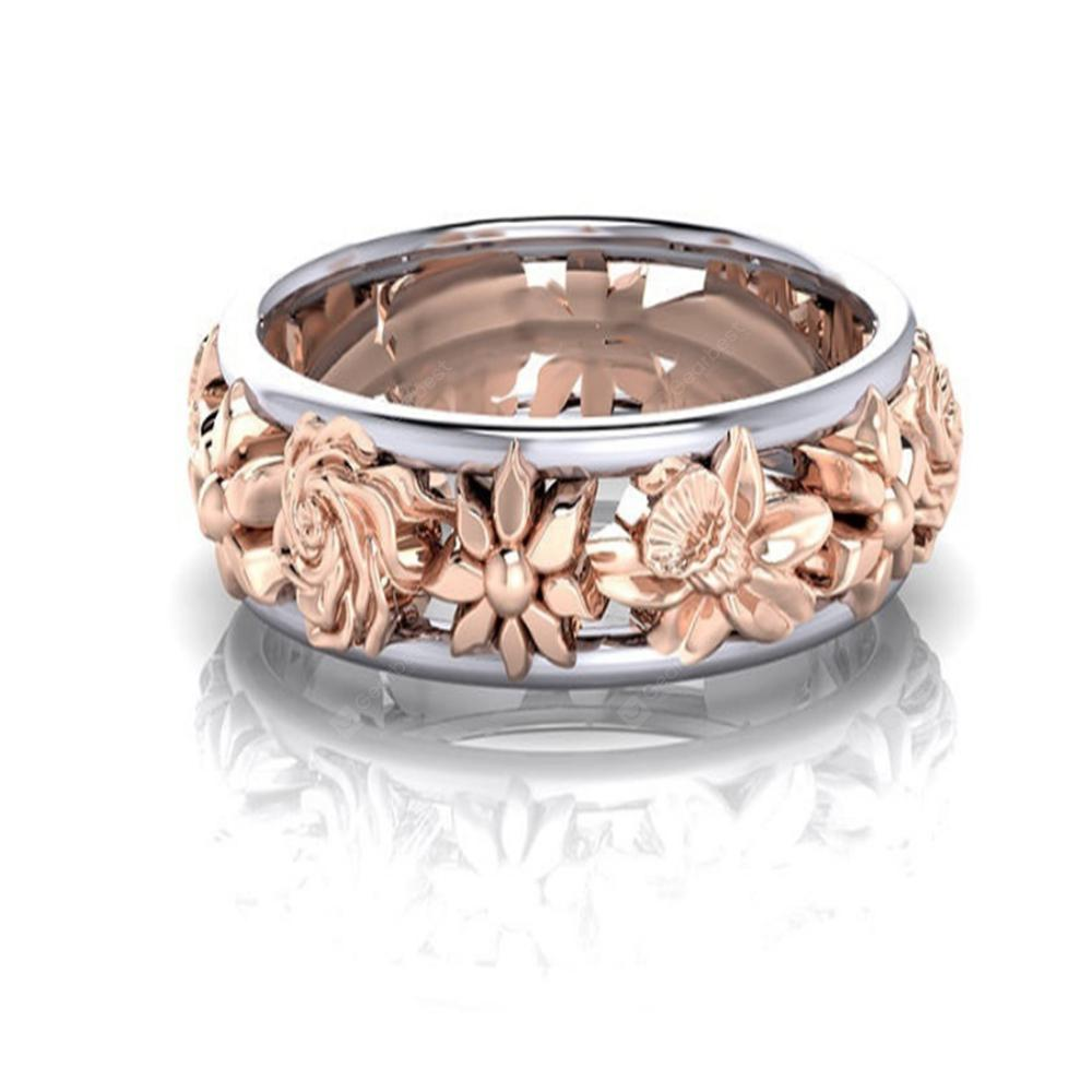 Europe and The United States Plum Gold Ring Female