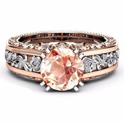 Colored Gemstone Rose Gold Color Ring