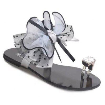 Beach Flowers Beach Cool Female Summer Slip Bow-Tie Slippers