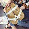 Sandals Slippers Flat Angle Beach Shoes - WHITE