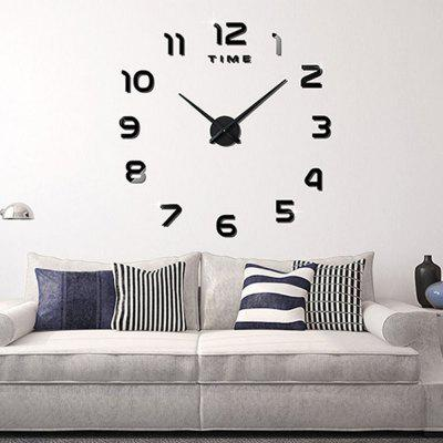 Living Room Big  Clock 3D Creative Art Wall Stick Watch DIY Clock Fashion Digital