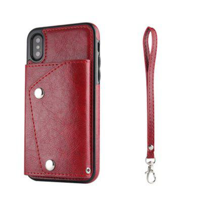 Luxury Flip Leather Case For IPhone X Wallet Card Holder Protective Back new luxury pu leather wallet business vintage credit card holder back cover case for iphone x s
