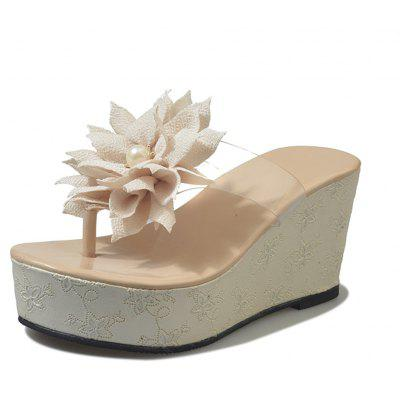 Flower Character Trailing Thick Bottom To Wear Antiskid Feet Beach Cool Slippers