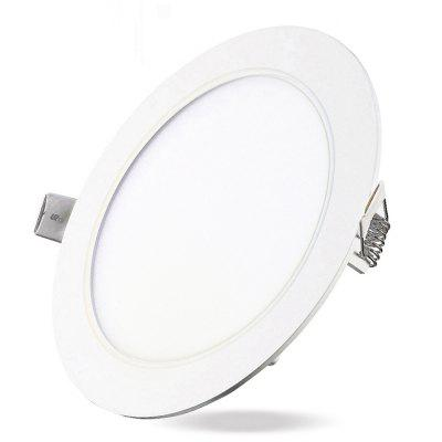 6w dimmable round flat led panel light lamp ultra thin led recessed 6w dimmable round flat led panel light lamp ultra thin led recessed ceiling light 5pcs aloadofball Image collections